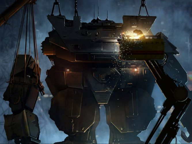 robot sci-fi art artwork futuristic robot wallpaper