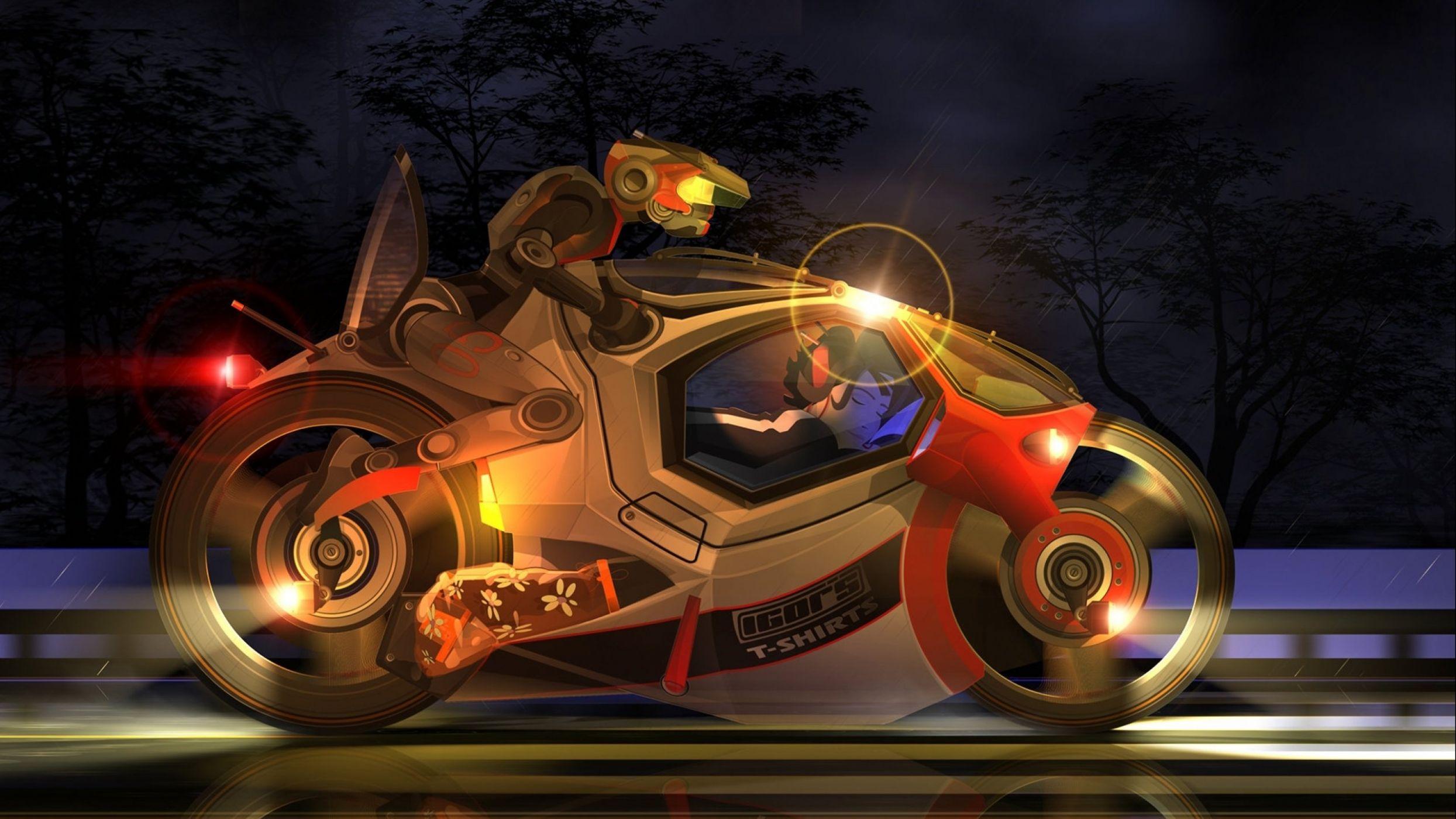 будем робот на мотоцикле картинки представлено среди