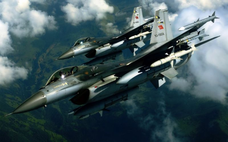 Aircraft F-16 Turkish Air Force wallpaper