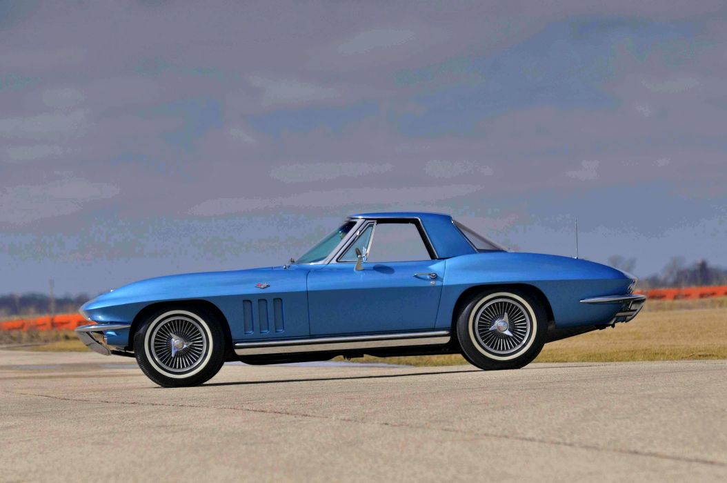 1965 Chevrolet Chevy Corvette Convertible Stigray Muscle Classic Old Original USA 4288x2848-01 wallpaper