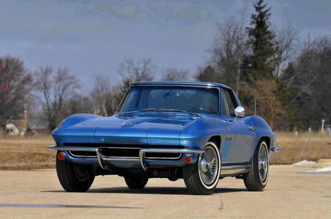 1965 Chevrolet Chevy Corvette Convertible Stigray Muscle Classic Old Original USA 4288x2848-07 wallpaper