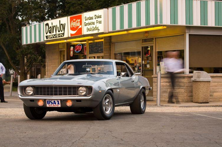 1969 Chevrolet Chevy Camaro Muscle Streetrod Street Rod Rodder Silver USA 2048x1360-03 wallpaper