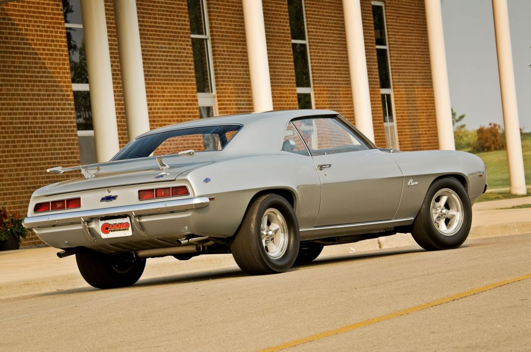 1969 Chevrolet Chevy Camaro Muscle Streetrod Street Rod Rodder Silver USA 2048x1360-05 wallpaper