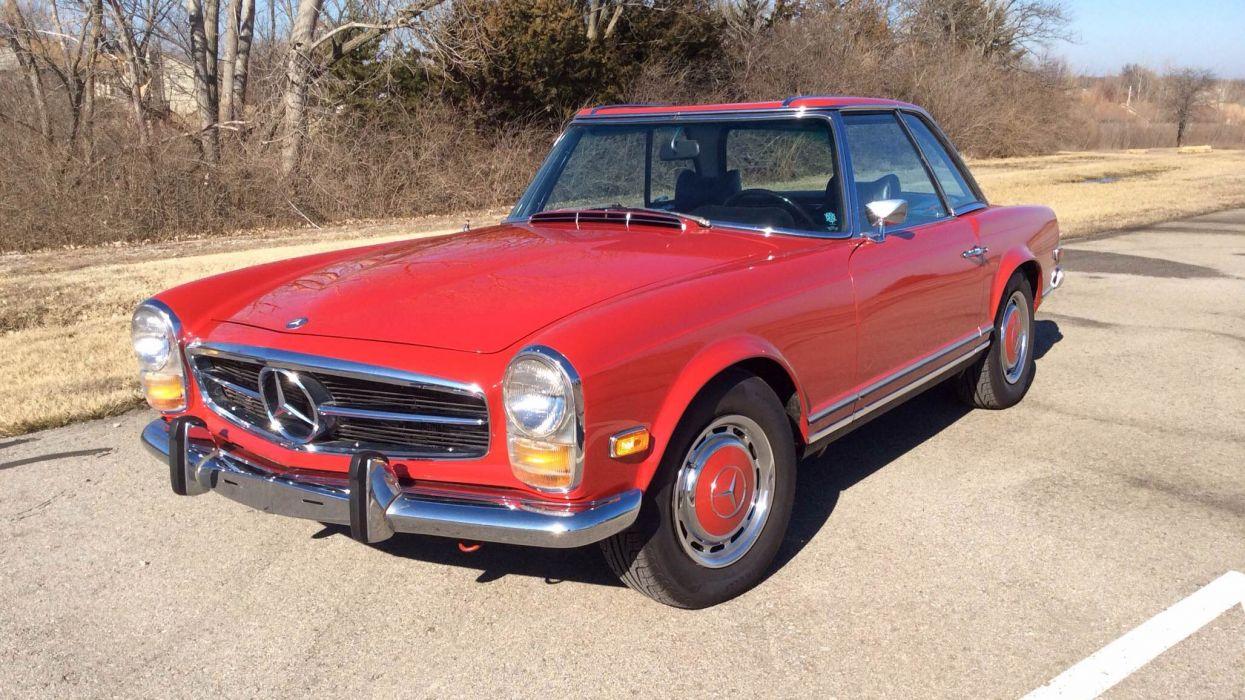 1969 Mercedes Benz 280SL Roadste Classic Old Original Red 2056x1156 wallpaper