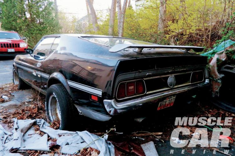 1971 Ford Mustang Mach-1 Junk Yard Rust Abandoned Muscle Classic Old USA 1500x1000-02 wallpaper