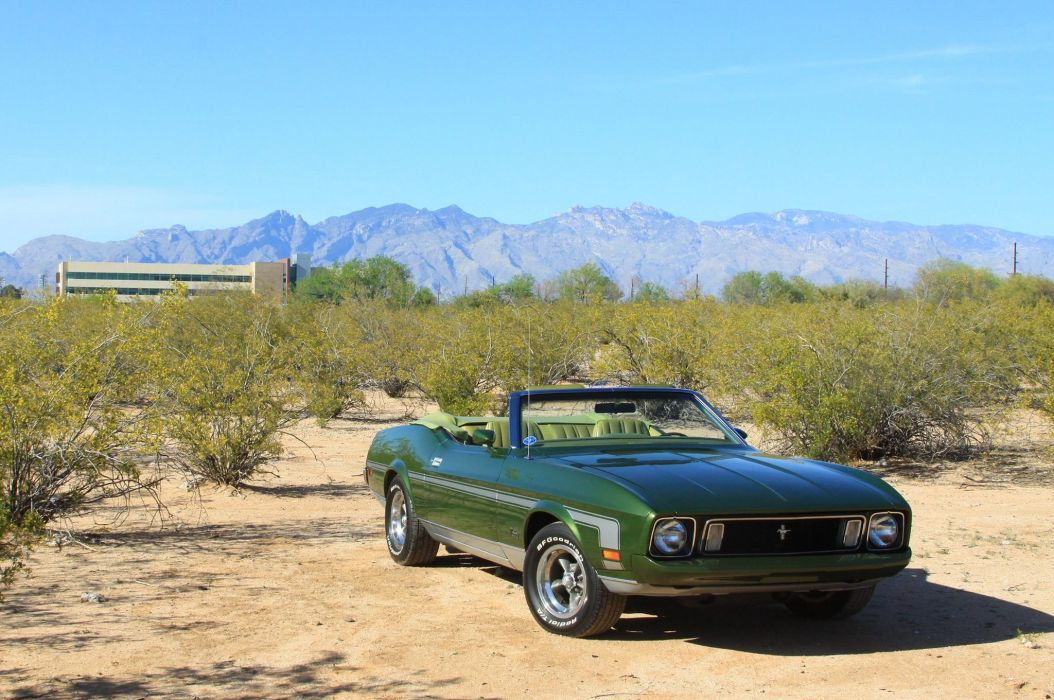 1973 Ford Mustang Convertible Streetrod Street Rod Rodeder Muscle Classic USA 2048x1360-03 wallpaper