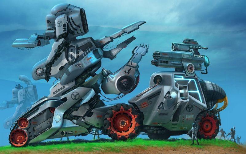 robot sci-fi art artwork futuristic robots wallpaper