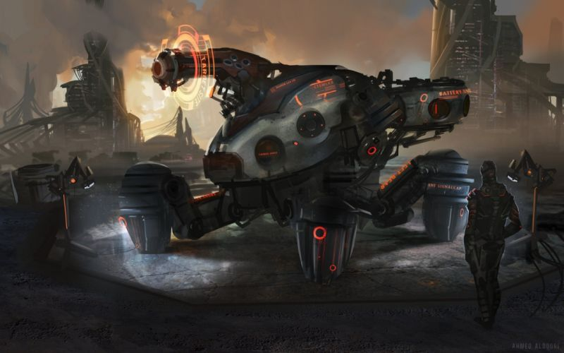 robot sci-fi art artwork futuristic robots wallpaper