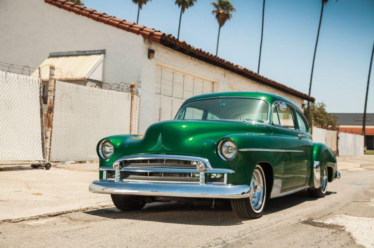 1950 Chevrolet Chevy Fleetline Streetrod Street Rod Custom Kustom Low Old School USA 5616x3730-02 wallpaper