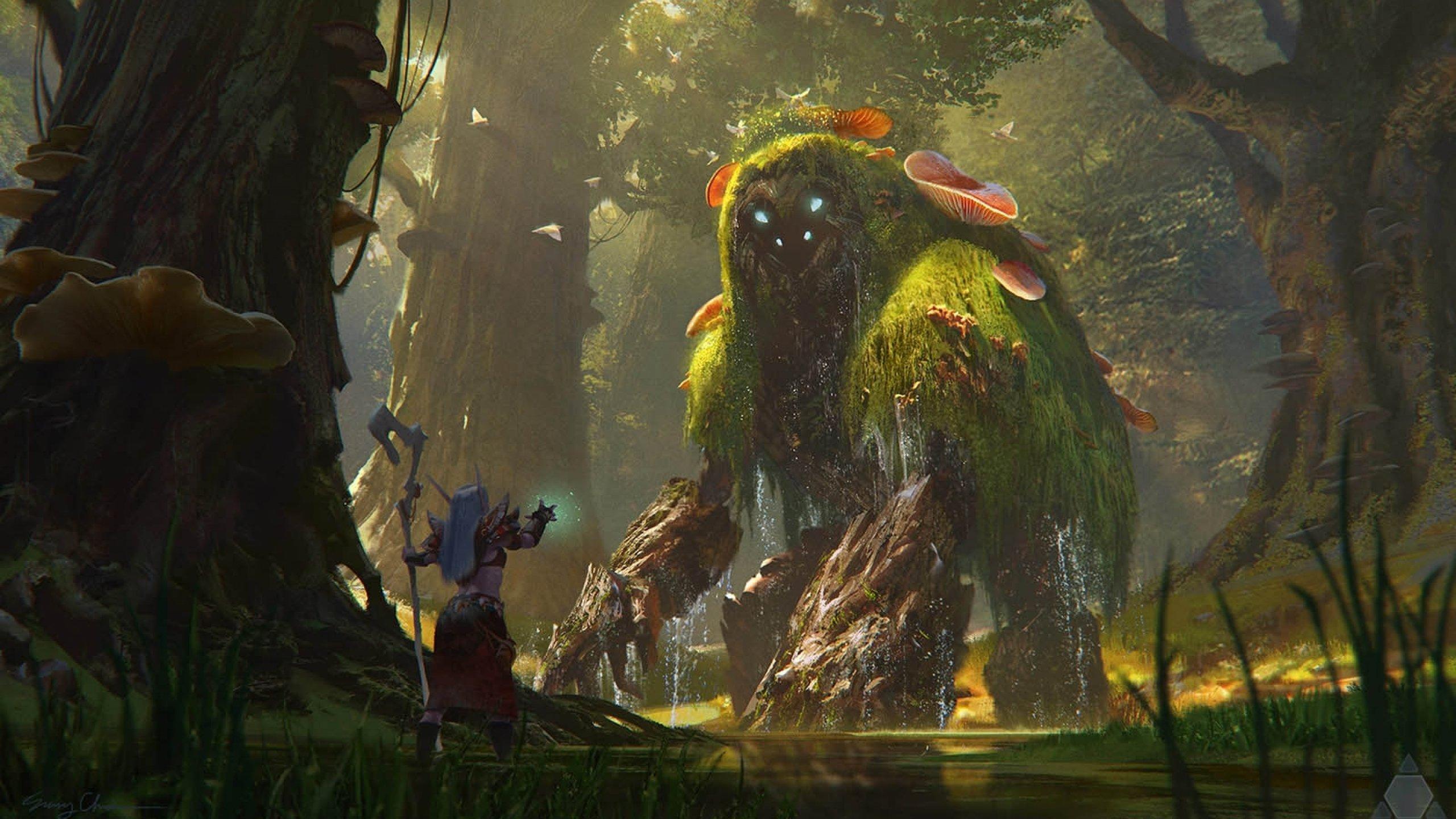 Fantasy creature art artwork monster wallpaper | 2560x1440 ... - photo#34