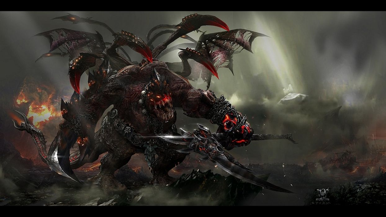 fantasy creature art artwork monster wallpaper