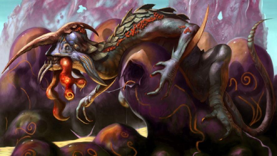 fantasy creature art artwork monster wallpaper