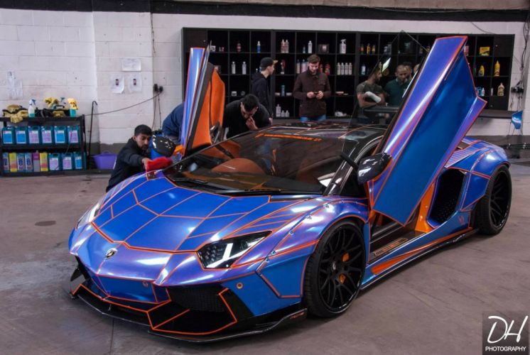 Lamborghini Aventador Liberty Walk tuning bodykit cars supercars wallpaper