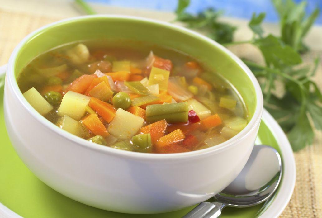 sopa verduras tazon comida wallpaper
