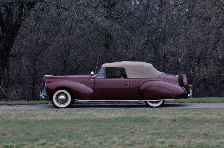 1940 Lincoln Zephir Convertible Classic Old Vintage Retro Original USA 4288X2848-02 wallpaper