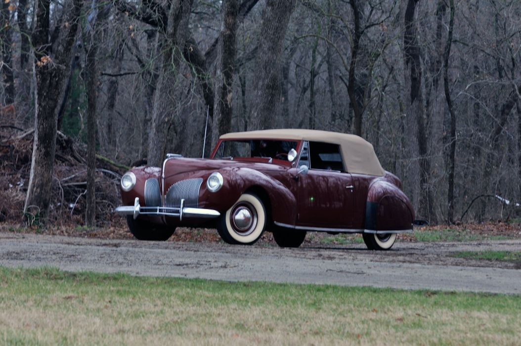 1940 Lincoln Zephir Convertible Classic Old Vintage Retro Original USA 4288X2848-01 wallpaper