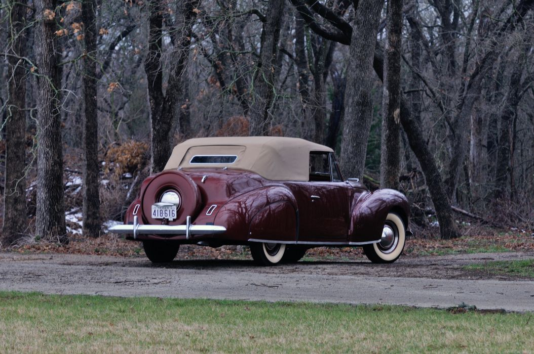 1940 Lincoln Zephir Convertible Classic Old Vintage Retro Original USA 4288X2848-03 wallpaper