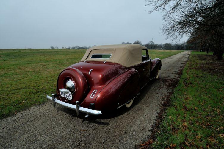 1940 Lincoln Zephir Convertible Classic Old Vintage Retro Original USA 4288X2848-05 wallpaper