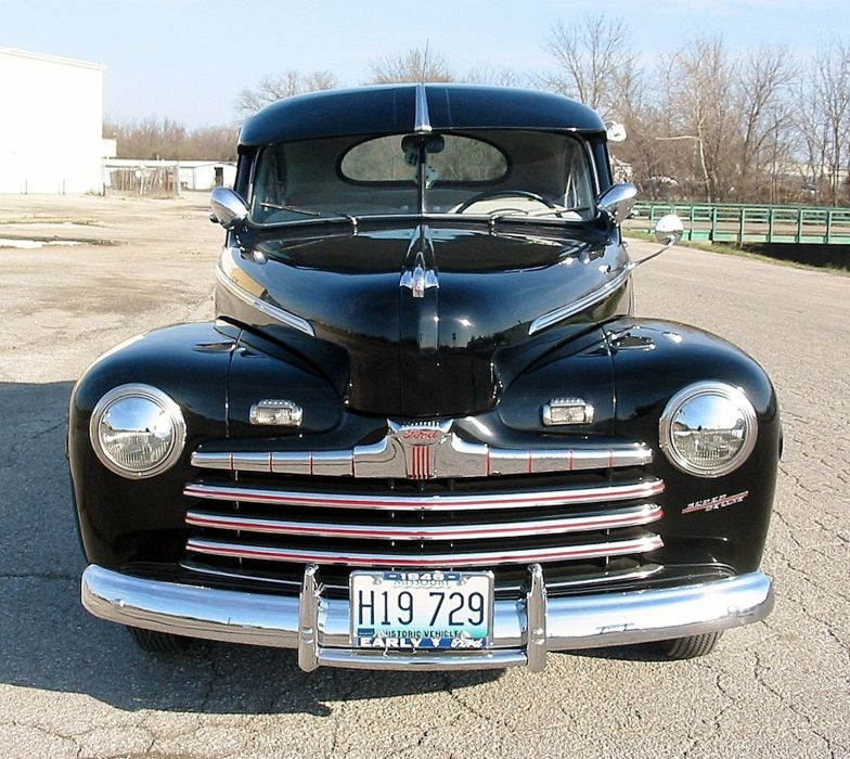 1946 Ford Deluxe Coupe Black Classic Old Vintage Retro Original USA 1600X1492-05 wallpaper