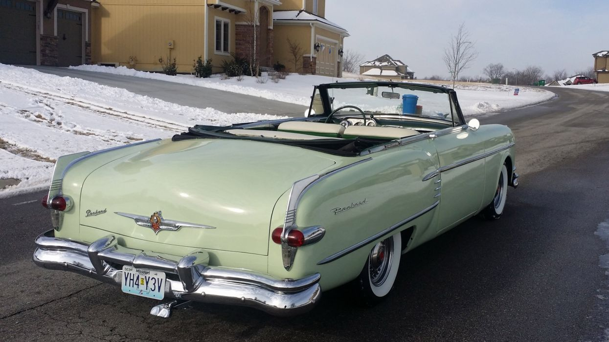 1954 Packard Caribbean Convertible Classic Old Vintage Retro OriginL usa 4096X2304-02 wallpaper