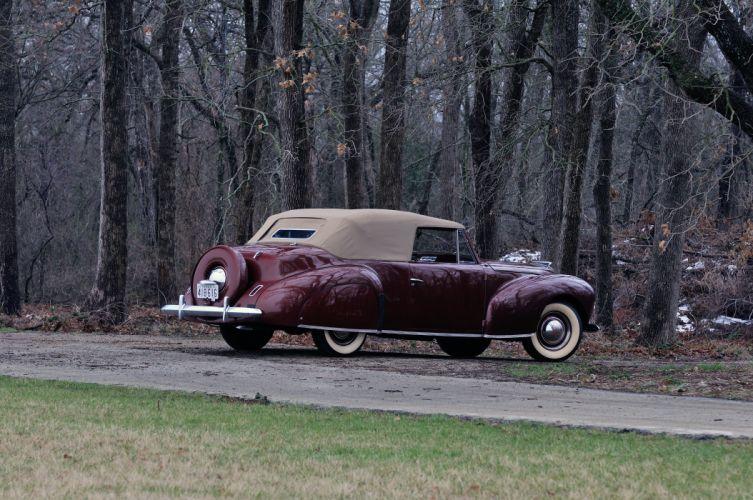 1940 Lincoln Zephir Convertible Classic Old Vintage Retro Original USA 4288X2848-08 wallpaper