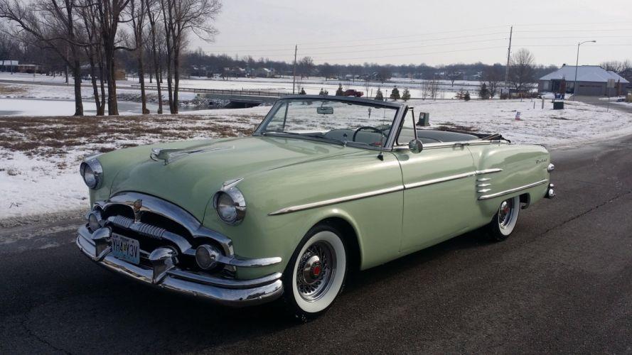 1954 Packard Caribbean Convertible Classic Old Vintage Retro OriginL usa 4096X2304-04 wallpaper