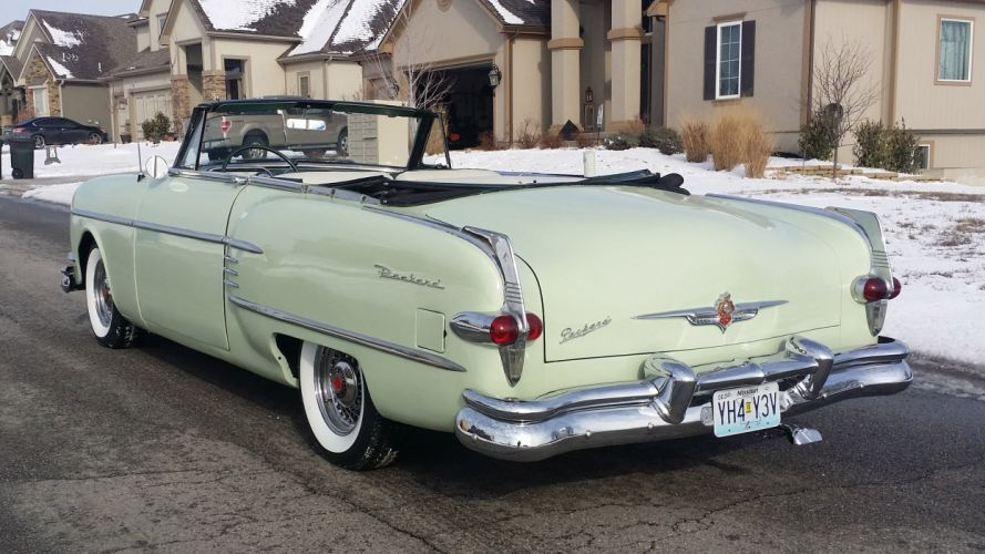 1954 Packard Caribbean Convertible Classic Old Vintage Retro OriginL usa 4096X2304-07 wallpaper