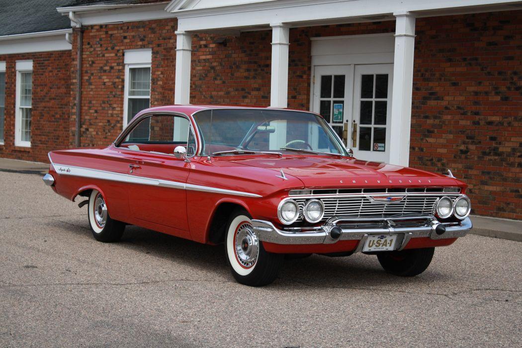 1961 Chevrolet Impala Coupe Booble Top Classic Old Vintage retro Original USA 3888x2592-02 wallpaper