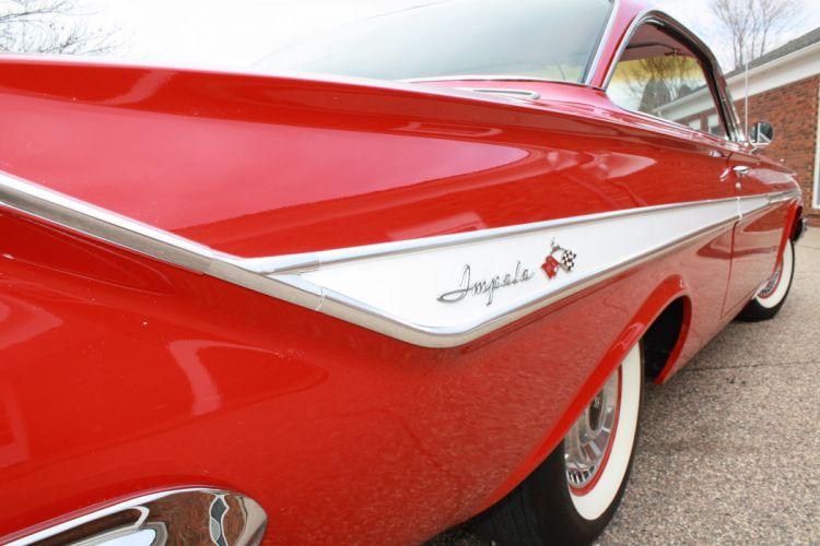 1961 Chevrolet Impala Coupe Booble Top Classic Old Vintage retro Original USA 3888x2592-05 wallpaper