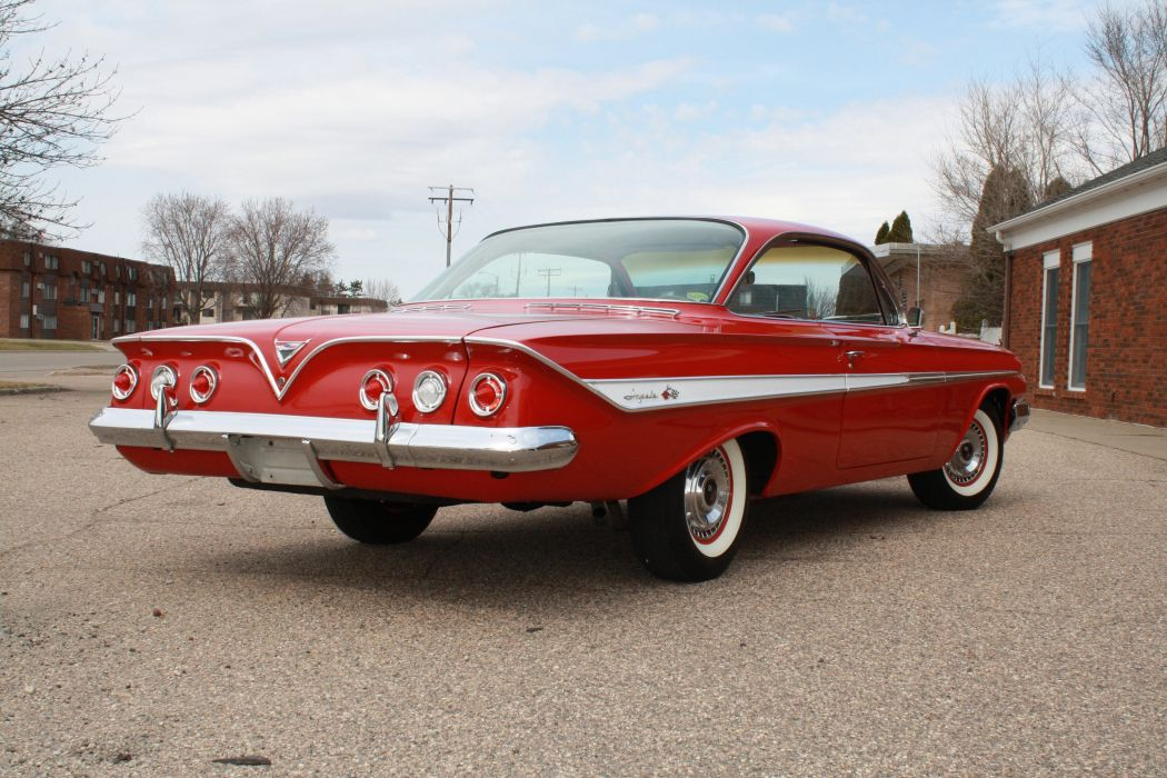 1961 Chevrolet Impala Coupe Booble Top Classic Old Vintage retro Original USA 3888x2592-04 wallpaper
