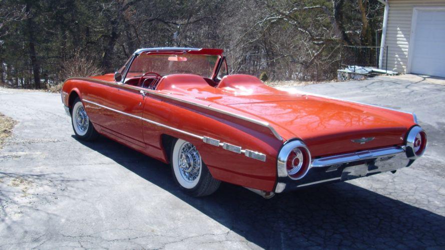 1962 Ford Thunderbird Convertible Classic Old Vintage Original USA 3072x1728-05 wallpaper