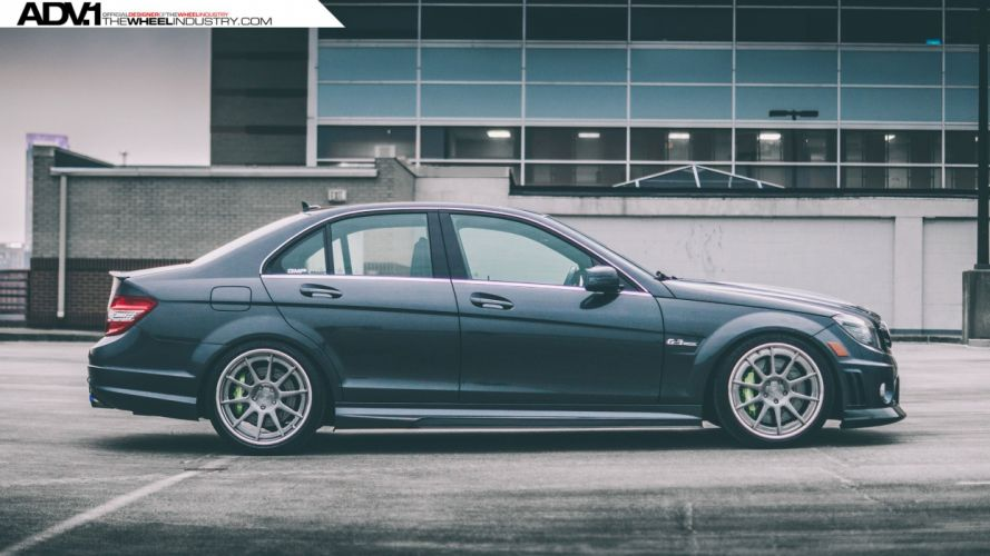 adv1 wheels cars tuning MERCEDES C63 amg sedan wallpaper
