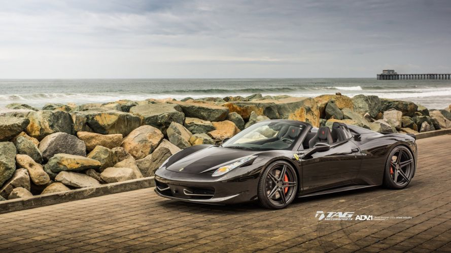 adv1 wheels cars tuning 458 ITALIA SPIDER ferrari wallpaper