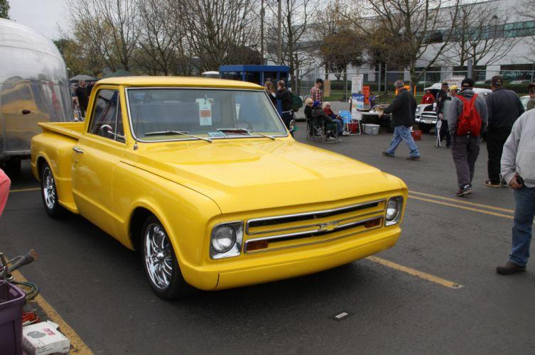 1967 Chevrolet C-10 Pickup Stepside Streetrod Street Rod Rodder USA 4752x3156 wallpaper