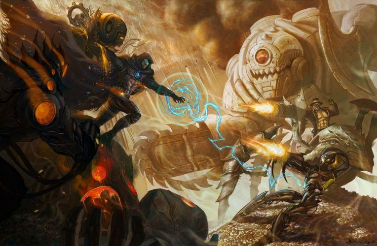 sci-fi battle fighting war art artwork warrior futuristic wallpaper