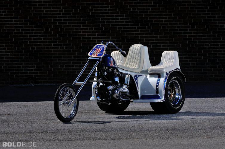 1975 Harley Davidson XLH Evel Knievel Trike chopper custom hot rod rods bike motorbike wallpaper