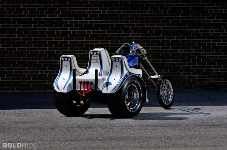 1975 Harley Davidson XLH Evel Knievel Trike chopper custom hot rod rods bike motorbike wallpaper