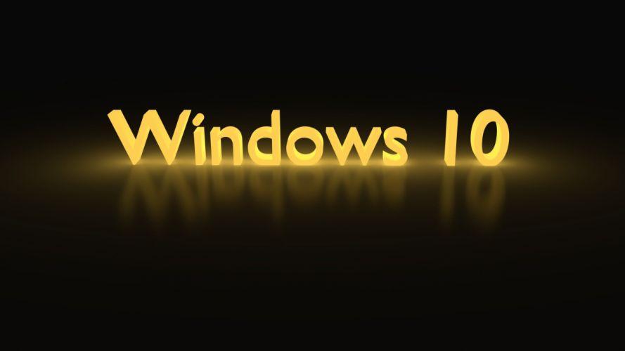 WINDOWS 10 microsoft computer wallpaper