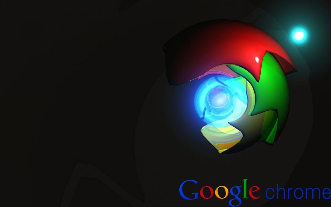 GOOGLE CHROME computer logo poster