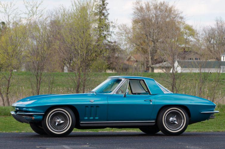 1965 Chevrolet Corvette Convertible Stingray Muscle Classic Old Original USA 06 wallpaper