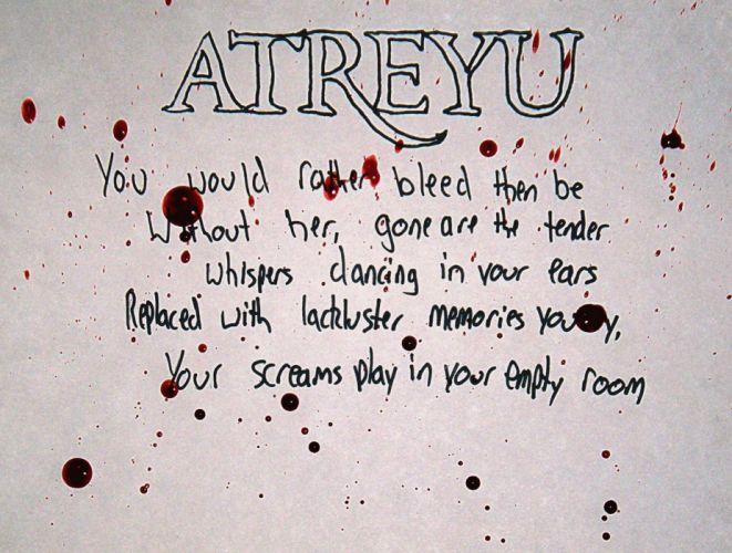 ATREYU metalcore hardcore alternative metal nu-metal poster text typography wallpaper