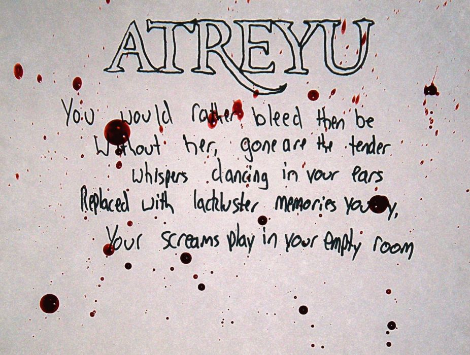 ATREYU metalcore hardcore alternative metal nu-metal poster text typography wallpaper