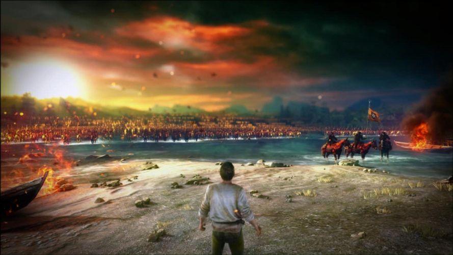 The Witcher 2 Assassins of Kings Nilfgard army soldiers fire beach war wallpaper