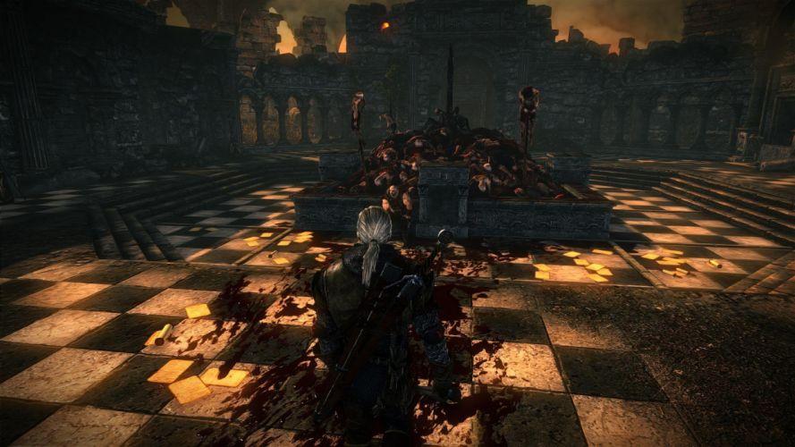 The Witcher 2 Assassins of Kings Geralt Letho dead bodies blood wallpaper