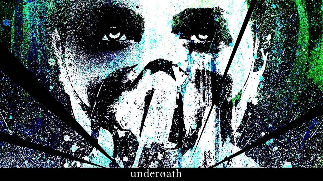 UNDEROATH christian metalcore hardcore religion 1undero emo screamo poster dark mask horror wallpaper