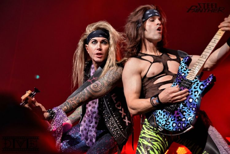 STEEL PANTHER hair metal heavy concert guitar wallpaper