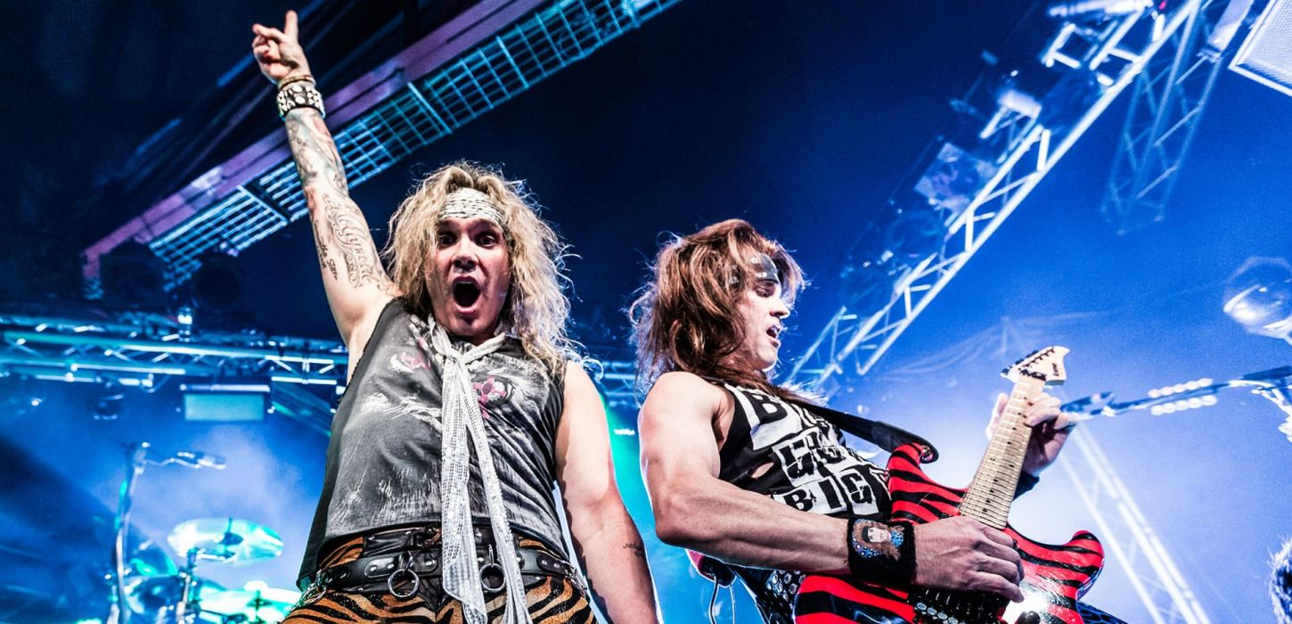 STEEL PANTHER hair metal heavy concert guitar wallpaper