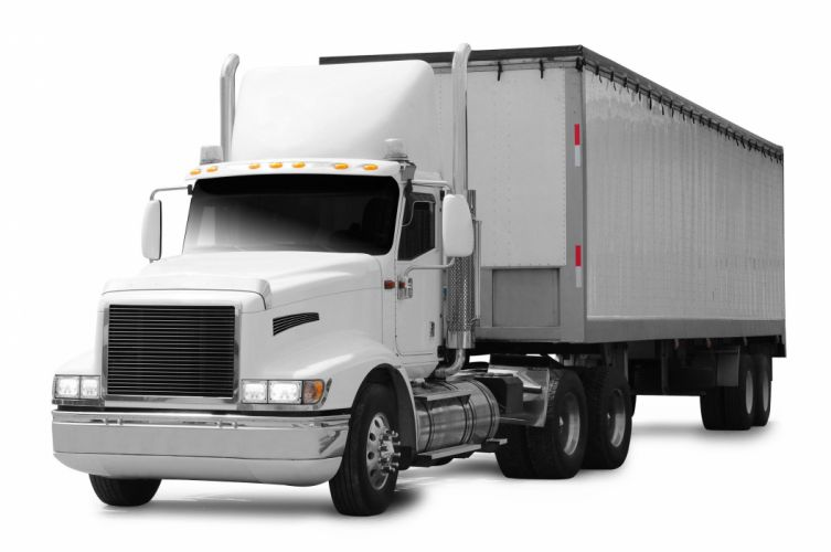 camion blanco transporte wallpaper