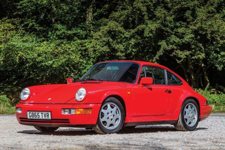 Porsche 911 Carrera 2 Coupe UK-spec 964 cars 1989 wallpaper
