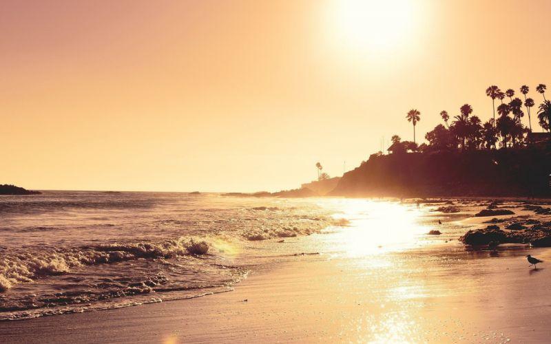 landscapes beach sun sea wallpaper